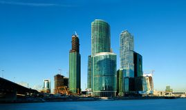 International business center in Moscow Royalty Free Stock Images