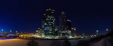 International business center in Moscow stock images