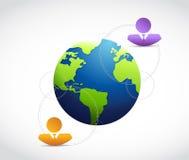 International business communication. Illustration design over a white background Royalty Free Stock Image