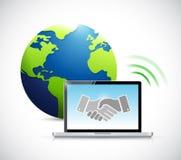 international business connection handshake Royalty Free Stock Image