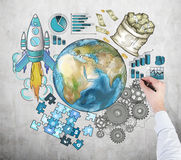 International business cooperation Stock Images