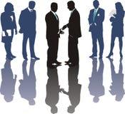 International business deal. International business, money symbols, Traders, vector illustration Royalty Free Stock Photography