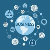 International business flat design Royalty Free Stock Photography