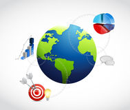 International business graph illustration Royalty Free Stock Photos
