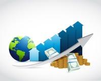 International business graph illustration design Royalty Free Stock Image