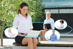 International business and internet concept - business woman tal Stock Image