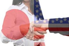 International business - Japan - USA. An International business - Japan - USA Royalty Free Stock Photo