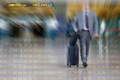 International Business man in the Airport Royalty Free Stock Images