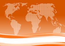 International business orange background Royalty Free Stock Photography