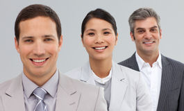 International Business partners standing in a line Royalty Free Stock Photo