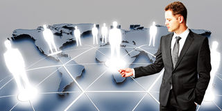 International business and partnership concept Royalty Free Stock Image