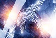 International business partnership. Mixed media stock images