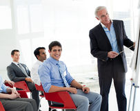 International business people at a conference Royalty Free Stock Photo