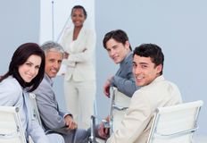 International business people at a presentation Stock Image