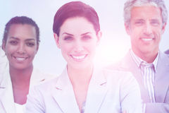 International business people standing with folded arms. Smiling at the camera Stock Photo