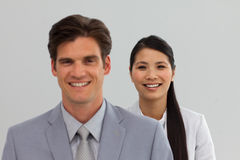 International Business people standing in a line Stock Image