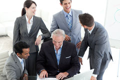 International business people studying a document Royalty Free Stock Image