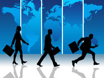 International business. Business people working on the international scene Stock Photography