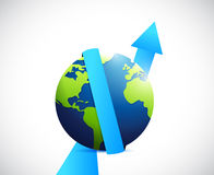 International business profits going up. Royalty Free Stock Images