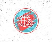 International business recruitment line icon. Stock Photography