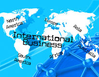 International Business Represents Across The Globe And Countries Royalty Free Stock Photos