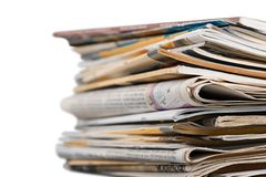 International. Business stack background social journalism page Stock Photo