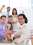 International business team celebrating a success Royalty Free Stock Images