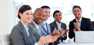 International business team clapping Royalty Free Stock Photo