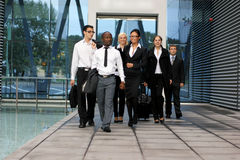 A international business team in formal clothes stock photo