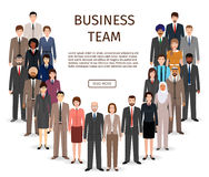 International business team. Group of office employee people standing together.  Royalty Free Stock Photo