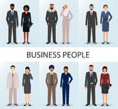 International business team. Set of couples office employee people. Stock Images