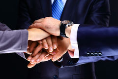 International business team. Showing unity with their hands together Stock Photography
