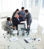 International business team studying a contract Royalty Free Stock Photography