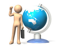 International businessman. Businessmen who travel all over the world.,computer generated image Royalty Free Stock Photography