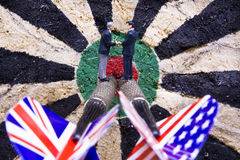 International Businessmen Darts Concept Royalty Free Stock Photo