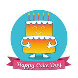 International Cake Day. July 20. Picture for the holiday of friendship and peace. The cake is next to the inscription. International Cake Day. July 20. Picture Royalty Free Stock Photography