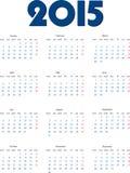 International calendar of 2015 year Stock Image