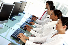 International call center Royalty Free Stock Image