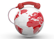 International Call - 3D Stock Image
