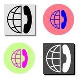international call. flat vector icon stock illustration