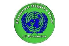 The international celebration of the United Nations Human Rights. Human Rights Day, the international holiday of the United Nations, is celebrated on December 10 Royalty Free Stock Photo
