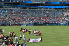 International Champions Cup. An image of the International Champions Cup FC INTERNAZIONALE versus FC BAYERN MUNICH in Charlotte, North Carolina Royalty Free Stock Photography