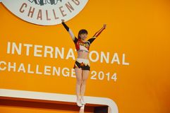 International Cheer Challenge 2014. Bangkok, Thailand - October,25 2014 -International Cheer Challenge at Seacon square shopping center Stock Photo