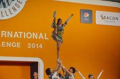 International Cheer Challenge 2014. Bangkok, Thailand - October,25 2014 -International Cheer Challenge at Seacon square shopping center Stock Images