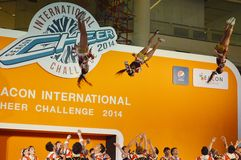 International Cheer Challenge 2014. Bangkok, Thailand - October,25 2014 -International Cheer Challenge at Seacon square shopping center Royalty Free Stock Photography