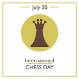 International Chess Day, July 20. Vector illustration for you design, card, banner, poster and calendar Stock Image