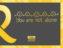 International Childhood Cancer Day. Design element. Golden ribbon is a symbol of childhood cancer Stock Images