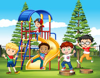 International children at the park Royalty Free Stock Images