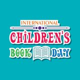 International Children`s book day poster Stock Image