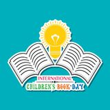 International Children`s book day poster. Vector illustration of International Children`s book day poster celebrated on 2nd april Royalty Free Stock Photography